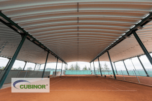 Cubierta autoportante para pista de tenis en Coruña