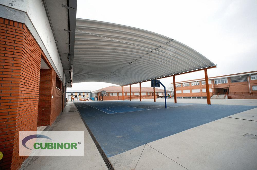 Cubierta autoportante para pista polideportiva en Derio, País Vasco