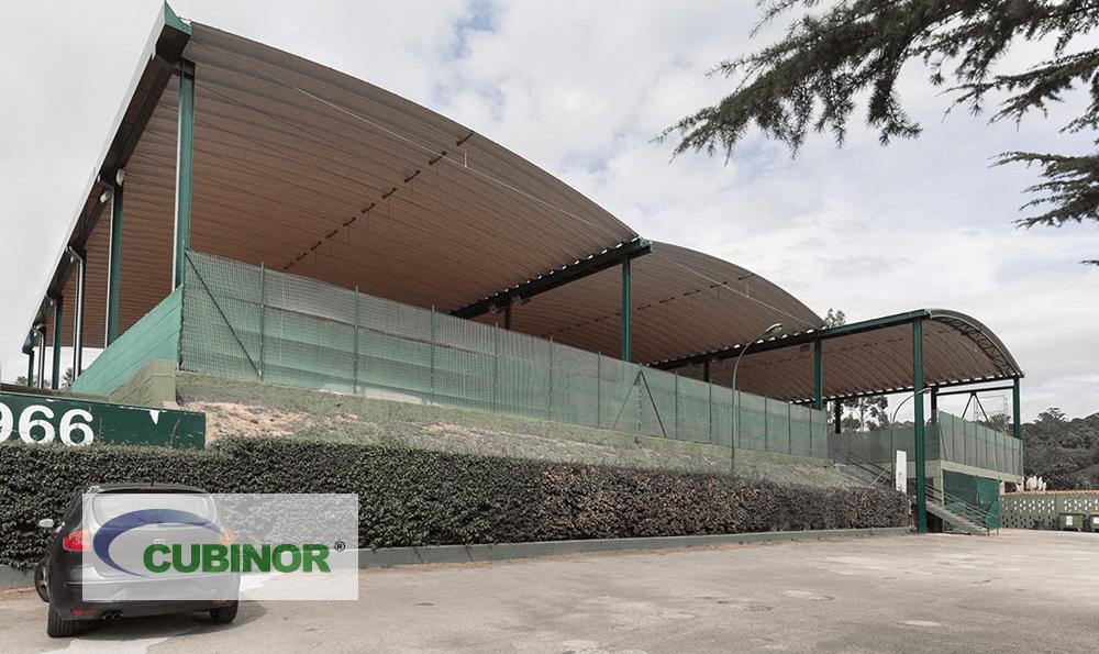 Cubierta autoportante para pistas de tenis en Coruña