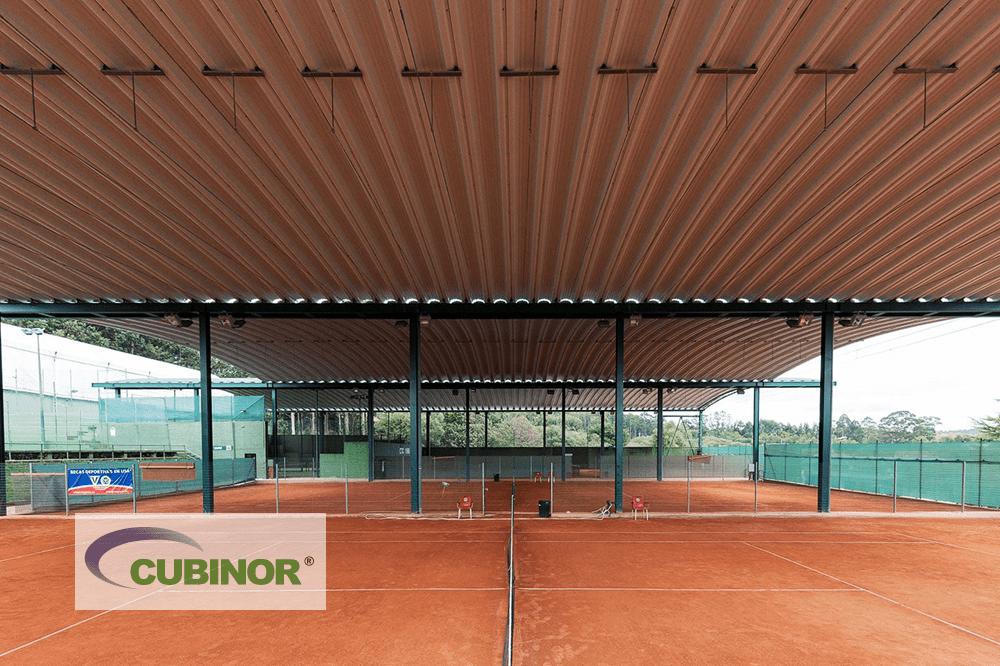 Cubierta autoportante pista de tenis en Coruña