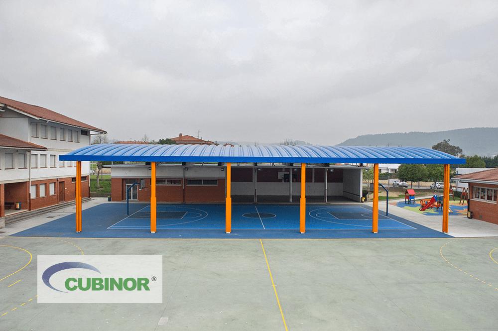 Cubierta para pista de colegio en Derio, País Vasco