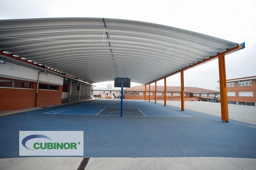 Cubierta para pista polideportiva de colegio en Derio, País Vasco