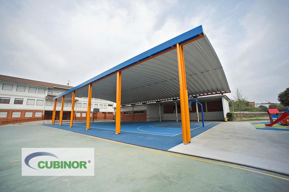 Cubierta para pista polideportiva en Derio, País Vasco