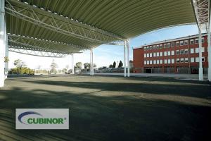 Cubierta pista polideportiva colegio Antón de Candás, Asturias