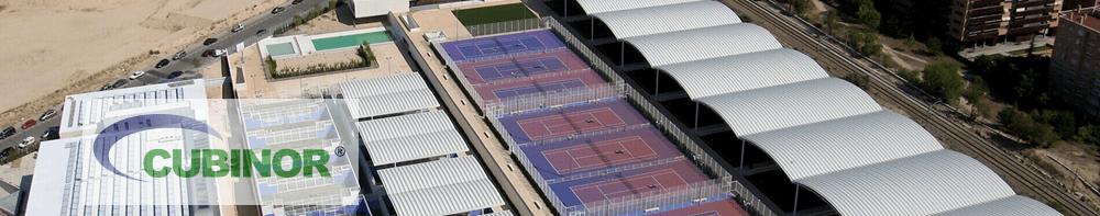 Cubierta autoportante para pistas de tenis en Madrid