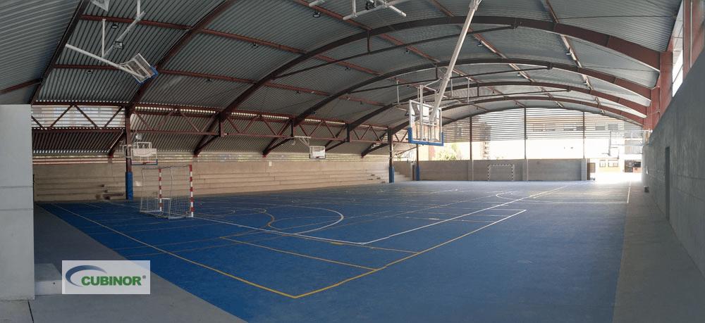 Cubierta colegio pista polideportiva en Madrid
