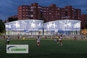 Cubierta para pista de pádel en Club de Pádel La Unión, Madrid
