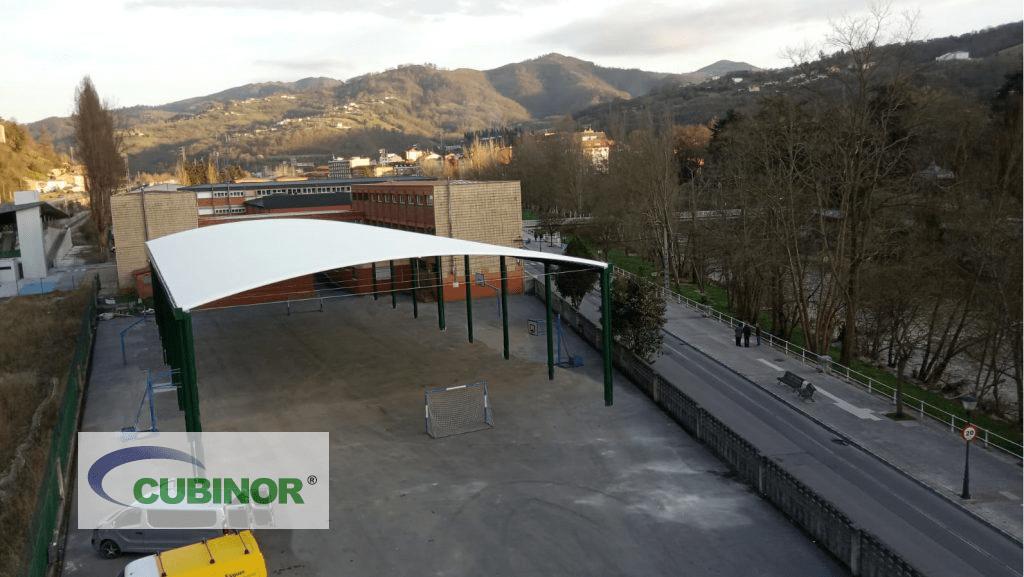 Cubierta para pista polideportiva en Asturias