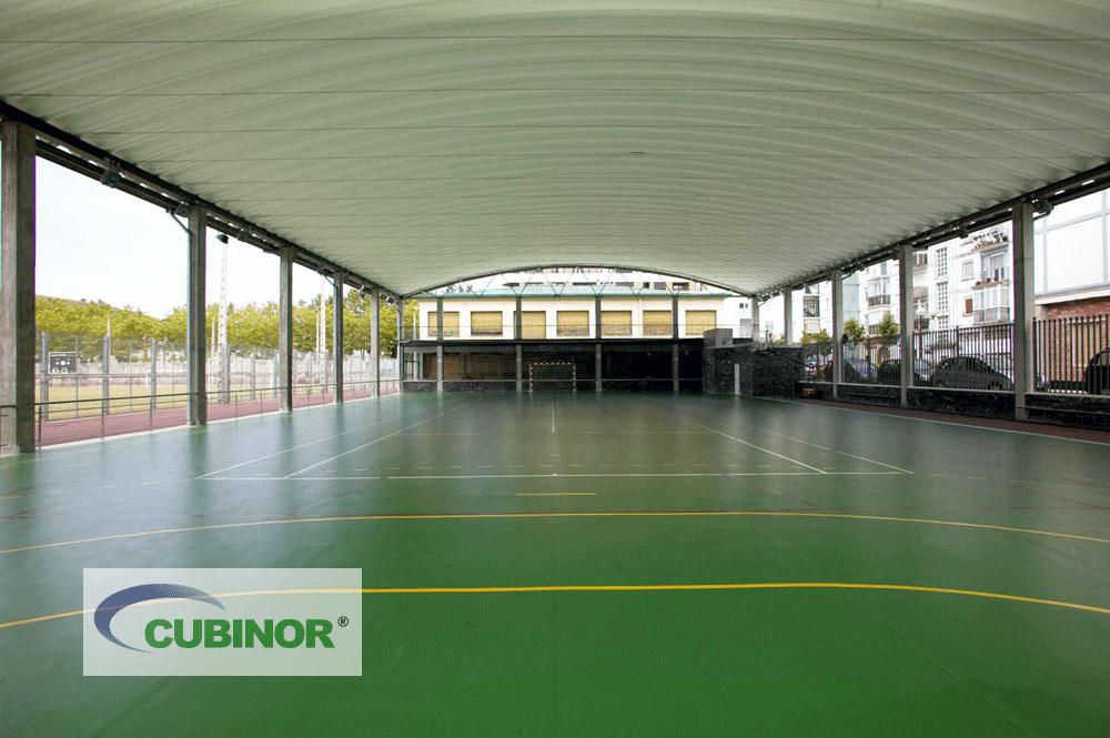 Cubierta para pista polideportiva en complejo deportivo Michelín Lasarte, Guipúzcoa