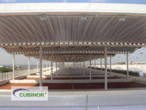 Cubierta para pistas de tenis en Madrid
