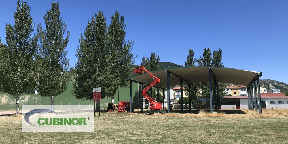 Cubierta autoportante para pistas de pádel en Guardo, Palencia