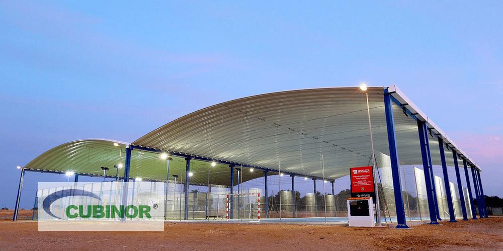 Cubierta para pista de polideportiva en Badajoz