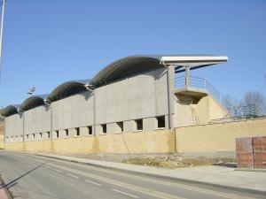 cubierta autoportante para grada en Amorebieta