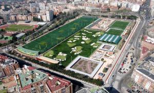 cubierta autoportante pista de pádel Canal Isabel II, Madrid