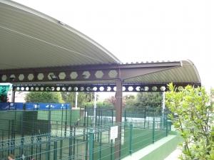 cubierta autoportante pista de pádel Real Club de Tenis de Gijón