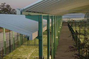 cubierta autoportante pista de pádel Las Rozas, Madrid