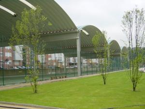 cubierta autoportante pista polideportiva Arrigorriaga