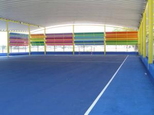 cubierta autoportante pista polideportiva Castellar