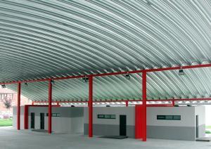 cubierta autoportante pista polideportiva en La Corredoria