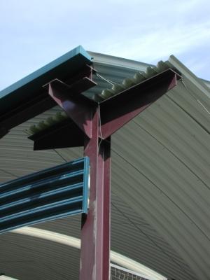 cubierta autoportante pista polideportiva colegio de Gijón