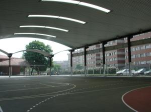 cubierta autoportante pista polideportiva
