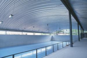 cubierta autoportante pabellón Polideportivo en Puenteviesgo, Santander