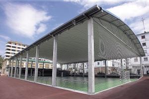 Cubierta autoportante complejo deportivo Michelín de Lasarte