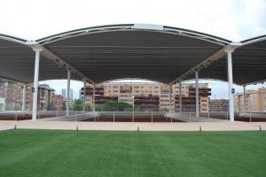 cubierta autoportante pistas de tenis Ciudad de la Raqueta en Madrid