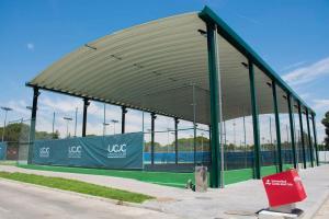 cubierta autoportante pistas de tenis UCJC Universidad Camilo José Cela SEK