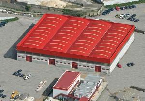 cubierta autoportante naves industrial FEMETAL en Polígono de Tremañes, Gijón